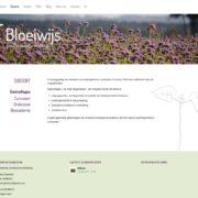 Bloeiwijs website volgpagina