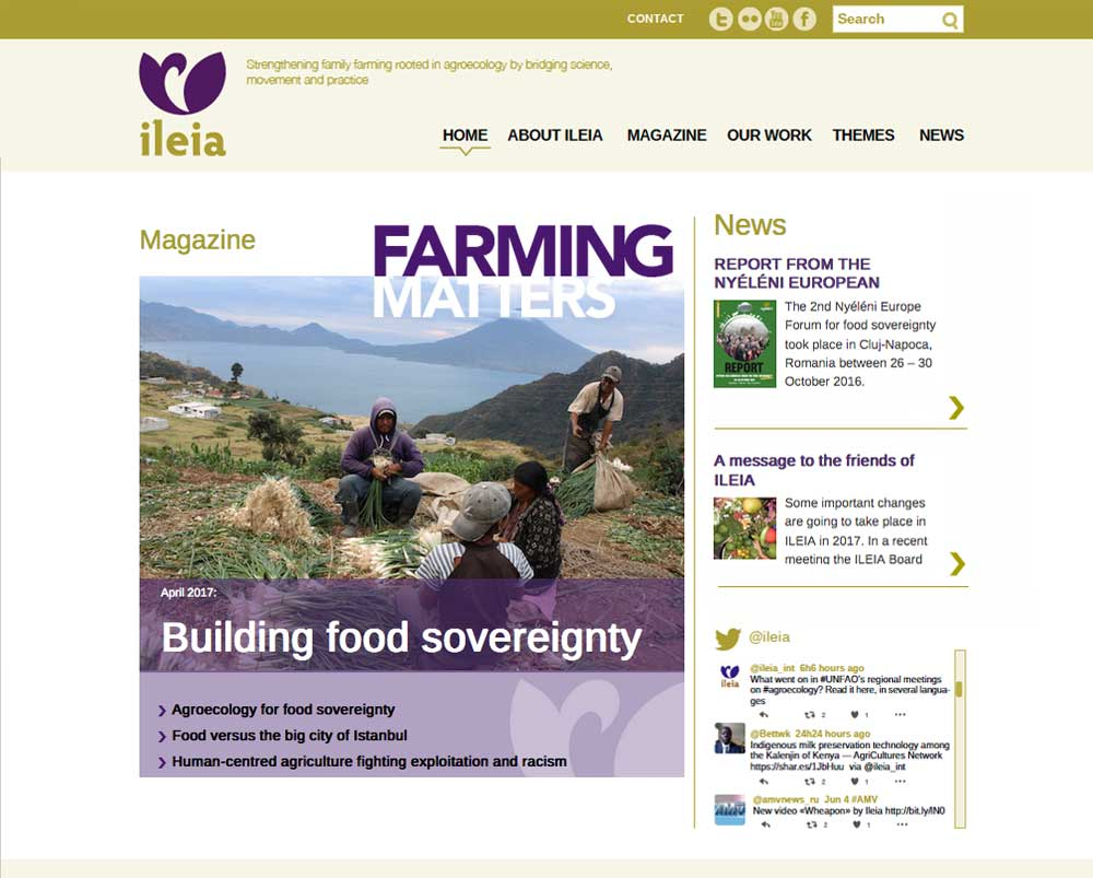 Website ILEIA homepage