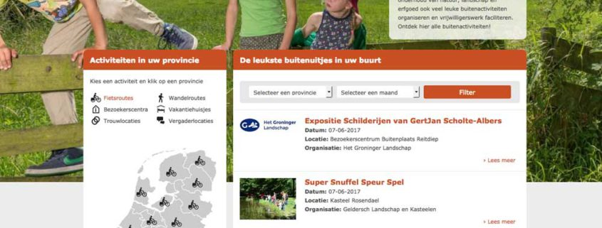 Webdesign In het Landschap homepage