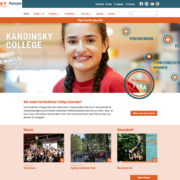 homepage Kandinsky college website