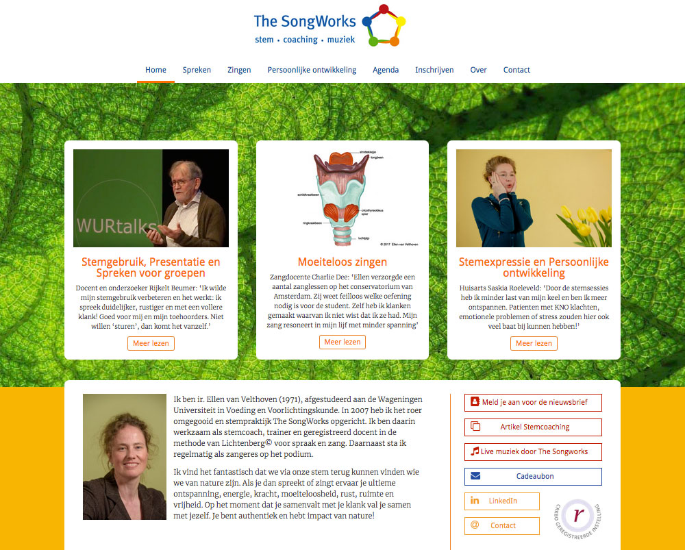The Songworks website
